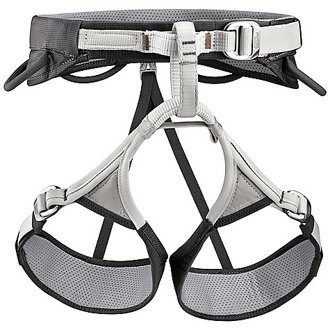 Climbing Free Shipping. Petzl Men's Adjama 2 Climbing Harness DECENT FEATURES of the Petzl Men's Adjama 2 Climbing Harness EndoFrame construction guarantees excellent weight distribution for optimal comfort Waistbelt and leg loops with doubled straps Waistbelt wider on the sides Specific stitching on the waistbelt limit hard points and chafing DoubleBack Light buckle allows quick and easy adjustment of the waistbelt Adjustable leg loops allow the harness to be donned while wearing mountaineering or ski boots, or to easily adjust the size for different clothing Dyneema tie-in points for excellent resistance to rope friction Four equipment loops: two rigid ones in front for quick and easy access to equipment and two flexible ones in the rear to avoid creating pressure points with a backpack Two slots for CARITOOL tool holder Rear loop for haul rope Petzl 3 year guarantee The SPECS Materials: nylon, polyester, EVA foam, polyurethane, aluminum Certifications: CE EN 12277 type C, UIAA The SPECS for Small Weight: 390 g Waist Belt Size: 70 - 80 cm Leg Loops: 47 - 57 cm The SPECS for Medium Weight: 420 g Waist Belt Size: 76 - 86 cm Leg Loops: 52 - 62 cm The SPECS for Large Weight: 470 g Waist Belt Size: 85 - 95 cm Leg Loops: 57 - 67 cm The SPECS for X-Large Weight: 490 g Waist Belt Size: 89 - 99 cm Leg Loops: 60 - 70 cm ALL CLIMBING SALES ARE FINAL. - $74.95