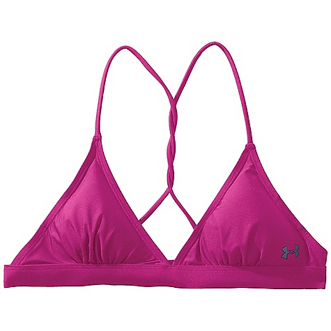 Fitness Under Armour Women's Wannatee Halter Top DECENT FEATURES of the Under Armour Women's Wannatee Halter Top Secure and sexy Quick dry removable pads (channels to drain) Adjustable back hook and straps Twisted back strap design feature Armour block anti-odor technology UPF The SPECS Body: 5.6 oz, 82% Nylon/18% Elastane Shadow: 74% Nylon/26% Elastane Mesh: 3.06 oz, 80% Nylon/20% Elastane - $44.95