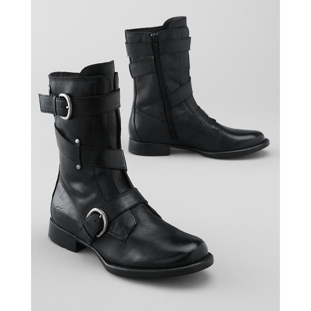 Auto and Cycle B rn Alamid 3-Strap Boots - B rn delivers comfort in style, with fashionable designs and the support of Opanka hand-sewn construction. This pair offers up a cute riff on motorcycle boots, with adjustable buckle straps and a full inside zip. Imported. - $99.99