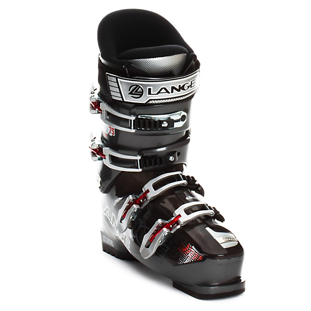 Ski Lange Blaster 75 Ski Boots - The Blaster 75 comes to the rescue of all motivated beginner skiers. While most beginner type boots are very soft and comfortable they lack performance. This is not the case with the Blaster 75. Since it is based on the performance Blaster shell the 75 has a very comfortable and generous 102mm forefoot but retains the strong heel hold Lange is known for. When combined with the Control Fit Liner which is a perfect blend of plushness for comfort with dense materials where needed for support the Blaster 75 walks a straight line between comfort and performance to give you the best of both. To improve upon this blend the Blaster 75 uses a Natural Stance, which helps to utilize a better balance of your strength for less fatigue with better control and stability. So not only is the Blaster 75 comfortable it can help you improve with every trip to the hill and since it is a performance shell you won't need to replace it after a single season. . Actual Flex: 75, Cuff Alignment: Single, Warranty: One Year, Gender: Mens, Special Features: Control Fit Liner, Width: Medium (100-103mm), Special Features: Natural Stance, Flex: Medium, Race: No, Used: No, Ski/Walk: No, Prewired For Heat: No, Number of Micro Buckles: Four, Freestyle: No, Sidecountry: No, Forefoot Width: 102mm, Flex Adjustment: No, Buckle Count: 4, Buckle Material: Aluminum, Category: Downhill, Skill Range: Beginner - Advanced Intermediate, Model Year: 2012, Product ID: 230473, Shipping Restriction: This item is not available - $179.95