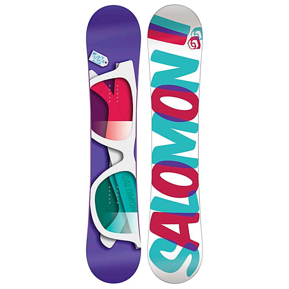 Snowboard Salomon Oh Yeah Womens Snowboard - Shout out loud Oh Yeah! The Salomon Oh Yeah snowboard has an Easy Press core for on-point pressing over groomers and into the jib park. Oh Yeah! and Rocqualizer which is rocker combined with Equalizer which is the perfect balance of playfulness and edge hold in any terrain. Always grip, never slip. The Salomon way of doing reverse camber. The Oh Yeah has a slightly tapered shape for more float in the pow. The Standard Stone Finish is the industry for high-end boards, the only difference is that it's Salomon's basic finish. The Aspen Light core gives you a soft wood core. Stack more footy than Girls Gone Wild. . Actual Turn Radius @ Specified Length: 7.5m (147cm), Base Name: Extruded EG, Core Name: Aspen Light, Recommended Use: Freestyle, Waist Width: 284mm (147cm), Stance Width: 556-596mm, Stance Setback: Centered, Special Features: Royal Rubber Pad Sidewalls, Rocker Profile: Rocker, Shape: Twin, Flex: Soft, Pipe Oriented: No, Board Width: Regular, Rocker Type: Press-sure Rocqualizer, Core Material: Wood, Construction Type: Sidewall Construction, Hole Pattern: Standard 4 Hole, Magnatraction: No, Base Material: Extruded P-tex, Warranty: Two Year, Skill Range: Beginner - Advanced Intermediate, Model Year: 2012, Product ID: 235611, Gender: Womens, Skill Level: Beginner - $239.95