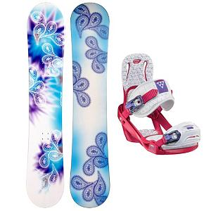 Snowboard Joyride Joyride Drops Blue Womens Snowboard and Binding Package 2013 - The Joyride Drops Blue is the perfect snowboard for any inspiring women rider looking to get their feet wet on the mountain. Designed for beginners the Drops Blue is constructed with a cap, sandwich like construction making the board lightweight and easy to turn. A Camber profile gives the riders more control, easier to make toe-side and heel-side turns which are the basics of snowboarding. Camber provides amazing edge hold on icy and all weather conditions. For freestyle riders Camber allows for an increase in the snowboards ability to ollie. The Joyride Drops Blue is a great snowboarding for the rider looking to progress there ability to snowboard. The Salomon Celeste binding makes progression for women seem endless. Women of any ability can strap into this binding and have the time of their life on the mountain. Its lightweight design is due to the Slasher baseplate that allows Salomon to shave 100g (per pair) from their other bindings. Polycarbonate material allows for even freestyle flex while throwing down your favorite tricks on the hill. Women Specific Geometry matched with 3D Prime Core Straps give women a complete unified fit between boot and binding. EVA pads on the binding provide support and comfort while riding so that you can spend more time riding without feeling fatigued. The Celeste binding will make any women rider feel like a pro all day every day. . Recommended Use: All-Mountain Freestyle, Snowboard Rocker Profile: Camber, Package Type: Board and Bindings, Model Year: 2013, Product ID: 302112, Gender: Womens - $199.99