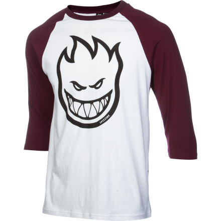 Entertainment Yes, Spitfire is a skate brand and the Men's Bighead #1 Jersey is three-quarters over awesome, but the best setting to unleash the evil fire face and number one is the beer league field. - $27.95