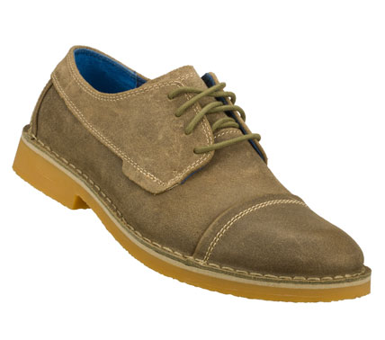 Entertainment Keep your style clean and cool with the Mark Nason SKECHERS Purist shoe.  Distressed leather upper in a lace up dress casual oxford with cap toe and stitching detail. - $90.00