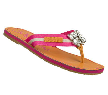 Surf Find your buried treasure with the SKECHERS Cali Beachcombers - Diamond sandal.  Soft woven fabric upper in a flip flop casual flat thong sandal with gemstone cluster detail. - $35.00