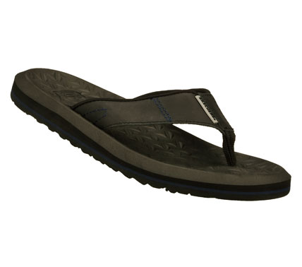 Surf Spend all your warm weather days in style with the SKECHERS Tantric - Zoltan sandal.  Smooth oiled leather upper in a flip flop casual thong sandal with stitching accents and light flexible sole. - $44.00