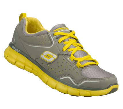 Achieve the very best in sporty style and comfort with the SKECHERS Synergy - A Lister shoe.  Leather; synthetic and ripstop fabric upper in a lace up athletic sporty training sneaker with stitching; overlay and perforation accents. - $68.00