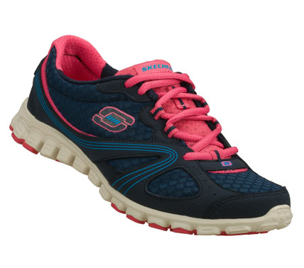Show off your colorful and flexible nature with the SKECHERS EZ Flex - Intricate shoe.  Smooth nubuck leather and mesh fabric upper in a lace up sporty casual sneaker with stitching and overlay accents. - $60.00