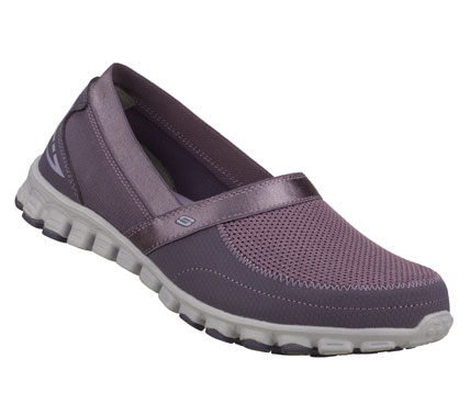 Relax into fun sporty style with the SKECHERS EZ Flex - Take It Easy shoe.  Smooth faux leather and mesh fabric upper in a slip on sporty casual sneaker with stitching and overlay accents. - $60.00