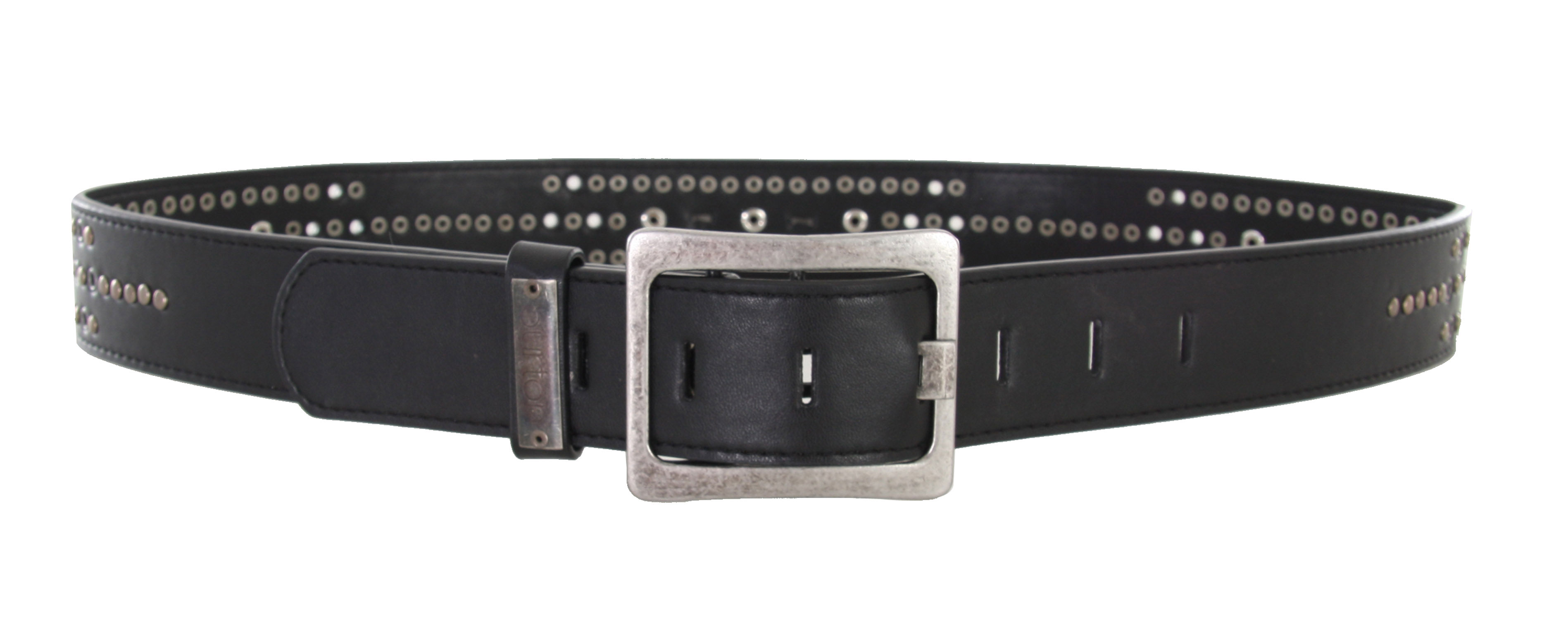 Snowboard Get your rocker style on with this Burton Studded Belt. This hot accessory features PU Leather Studded Belt with Full Rivet Backing, and Debossed Burton Roll Charms on the Buckle. The studs on the belt will be a testament to your edgy fashion choice, and function to hold up those pants at the same time! Don't be a bore with that same old brown leather belt, kick up those pants with the Burton Studded Belt and be a statement in your own right.Key Features of the Burton Studded Belt: PU Leather Grommet Belt PU Leather Inlay Buckle with Custom Logo Grommets and Studs - $16.77