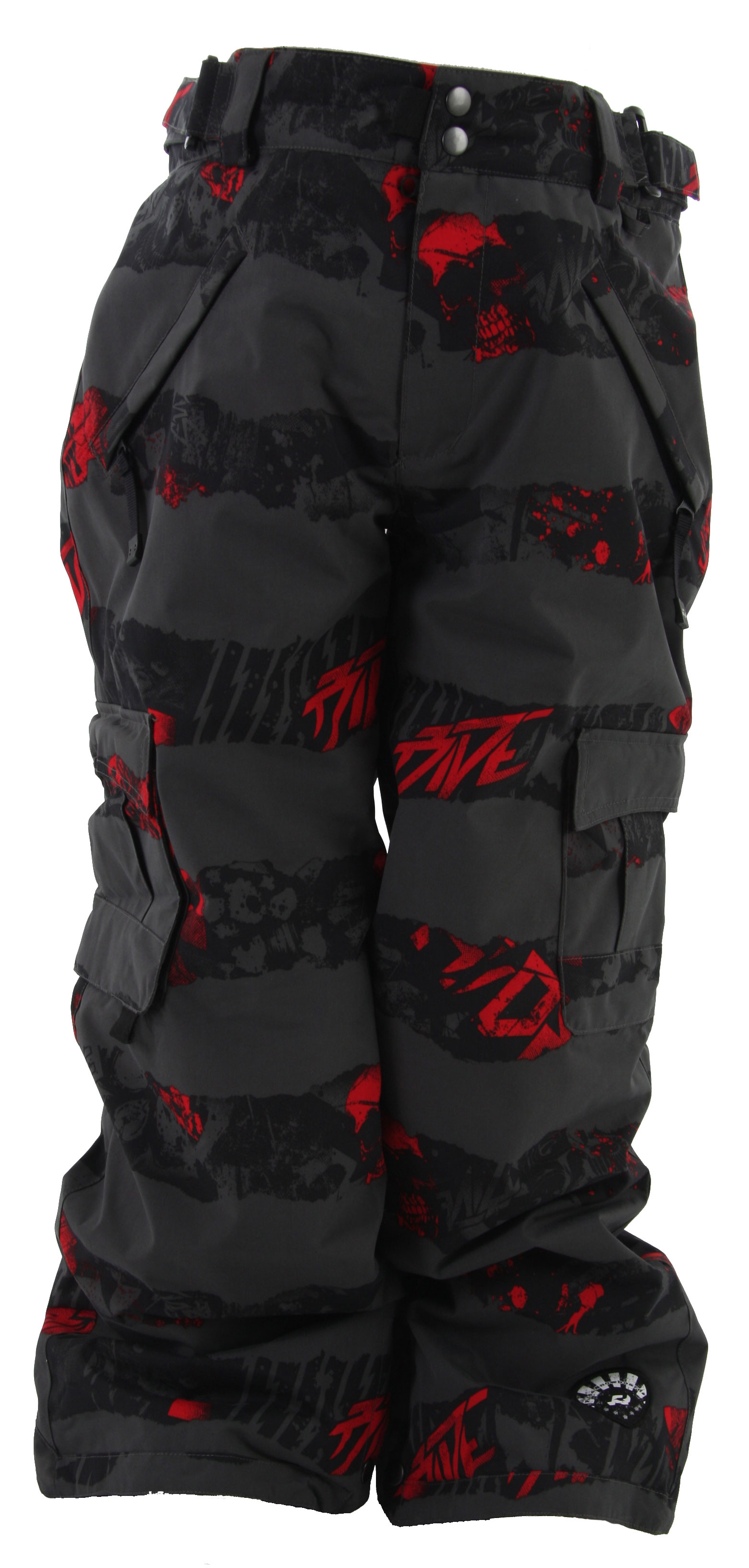 Snowboard Nothing ruins a snowboarding trip like wet pants. That is why the Ride Charger Insulated Snowboarding Pants are an absolute must on your next snowboarding trip. These pants not only keep you warm, but they also keep you dry. The insulation of these pants is designed to keep that body heat in, and the cold air out. The crafty exterior of these pants allow for you to fall in the snow without having to worry about getting soaked. Do not let cold pants ruin a perfectly good trip.Key Features of the Ride Charger Snowboard Pants:  3,000mm Waterproof  2,000g Breathability  Critically Taped Seams  Adjustable, Double-Snap Elastic Waist Closure  Velvety Tricot Inner Waist, Butt and Fly  Shred-Free Slightly Higher Pant Leg Back  Boot Gaiters  Side Cargo Pass Pocket  Lift Ticket Self-Fabric Loop  Front Micro-Fleece Lined Toaster Pockets  Key Clip In Front Pocket  80G Poly Insulation With Tricot Lining  Side Cargo Pockets and Back Pockets  Durable Dobby Weave Fabric - $44.95