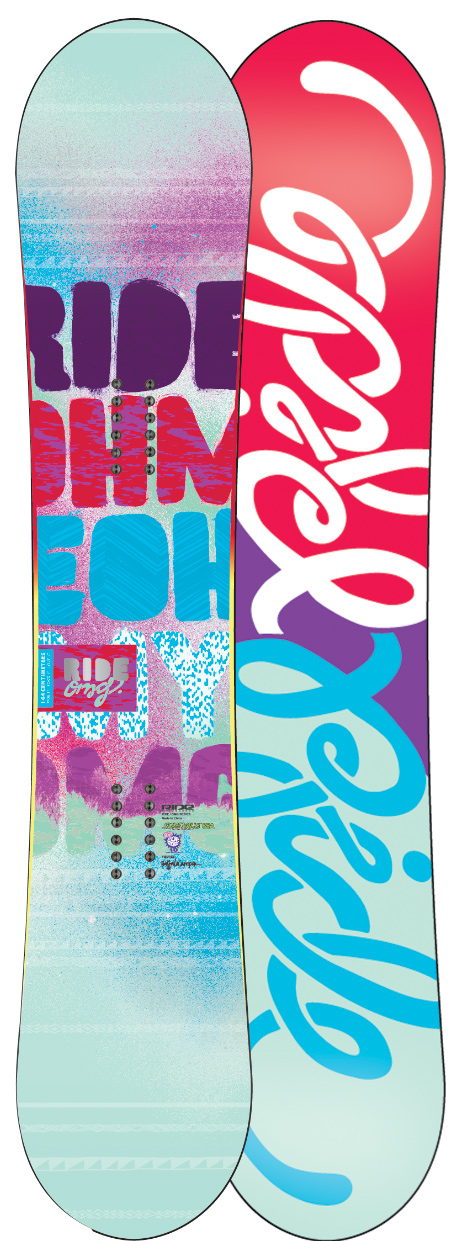 Snowboard Serious Freestyle Goodness Combining the surfy feel of rocker in the tip and tail with the hard charging pop you get from traditional camber under foot, this Hybrid Twin offers the max in versatility and stability. Built to go big without the fear of rocker washout, the Ride OMG snowboard is ideal for skilled freestyle Riders that require a playful feel and true landing control. Complete with LSD Pop Rods 1.0, 85A Slimewalls and Cleave Edge for a full dose of smooth-riding durability. Although actions speak louder than words, so watch for Hana Beaman killing it on the OMG as her go-to Ride this season.Key Features of the Ride OMG Snowboard: Shape : NEW! Hybrid Twin Stance : Centered Flex-O-Meter: 8 Thin Con NEW! Hybrid Twin Shape NEW! LSD Pop Rods 1.0 85A Slimewalls Carbon Array 3 Cleave Edge Hybrid Glass Fusion 4000 Base 2x4 Inserts - $291.95