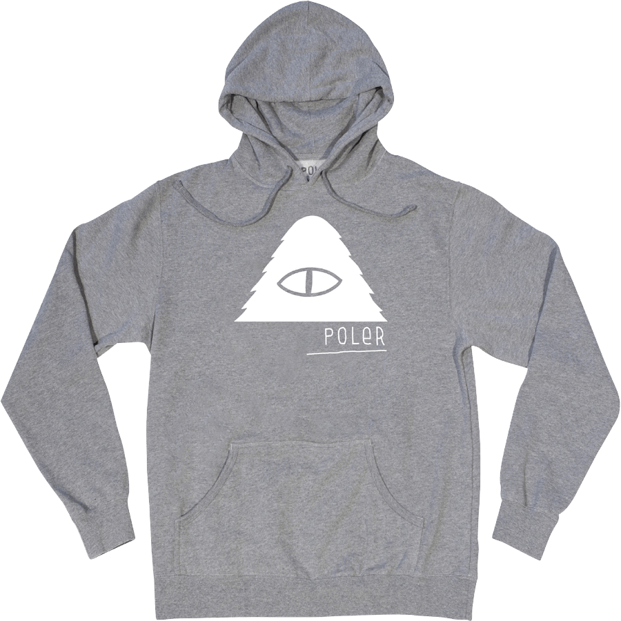 Snowboard The Poler Cyclops Pullover Hoodie in Gunmetal - $49.95