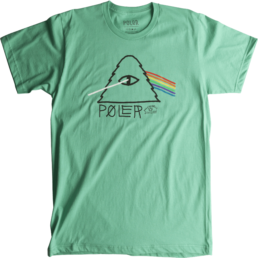 Snowboard Poler Psychedelic Tshirt in Forest Service Green - $27.95