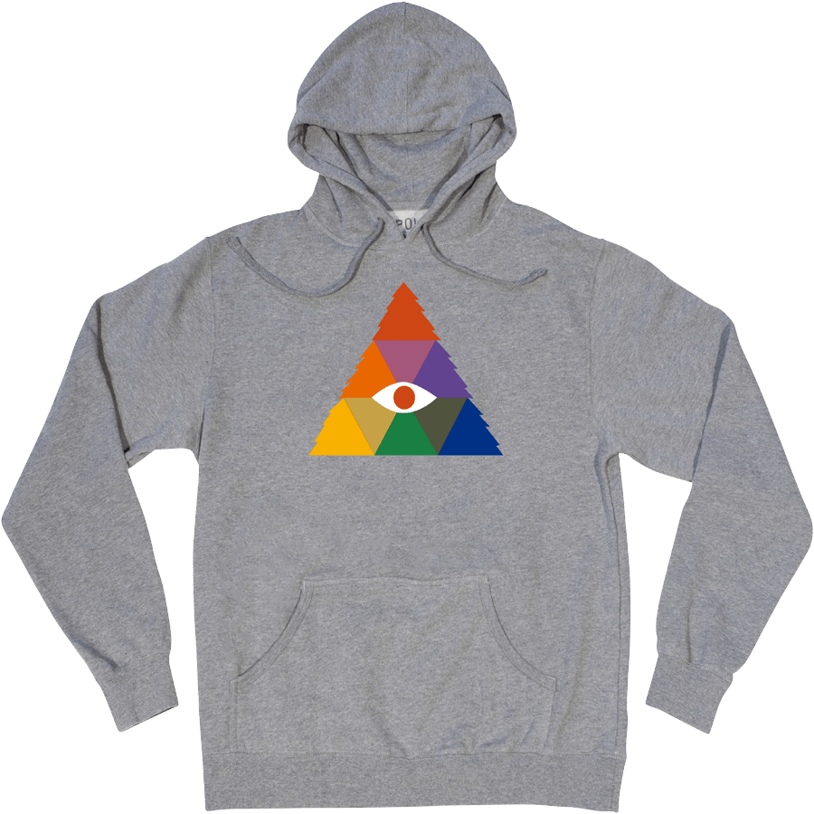 Snowboard Poler Rainbow Pullover Hoodie in Heather Grey - $49.95