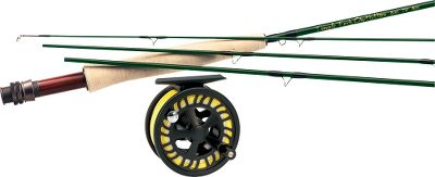 Flyfishing Weve teamed the Lefty Kreh Finesse fly rod with a Prestige Premier fly reel for serious performance at a price you can afford. Combo includes Cabelas Prestiege Premier Fly Line (a $59.99 value) and backing. The traditional action of the Lefty Kreh Finesse IM6 graphite fly rods are ideally suited for those places where the water runs low and clear. Places and situations where you need to delicately lay flies with pinpoint precision. The rods in this series have an olive translucent finish; SiC stripping guides; chromium-impregnated stainless steel snake guides and hook keepers; rosewood inserts and Flor-grade cork grips. Alignment dots are color-coded by line weight. The all-around match of other midrange fly reels on the market with one big difference the affordable price. The Prestige Premier models feature the reliability of a heat-dispersing carbon disc drag. The large-arbor design ensures faster line retrieve. Cast-aluminum construction delivers excellent strength-to-weight ratio. Pressure-fit spool pops out from the rear for easy spool exchange, eliminating the chance of lost or broken parts. Easily converts from right- to left-hand retrieve. Color: Stainless Steel. Type: Freshwater Fly Combos. - $269.99