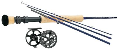 Flyfishing With Lefty Krehs strong TiCr X fly rod and Cabelas Prestige Premier fly reel, youre set up at an affordable price for any angler. Combo includes Cabelas Prestiege Premier Fly Line (a $59.99 value) and backing. Lightweight and incredibly strong, the TFO TiCr X fly rods generate tight loops and high line speeds with nearly instant dampening, making them the perfect distance tools for advanced casters who prefer fast-action rods. TiCr X fly rods feature Flor-grade cork handles and aluminum reel seats with cushioned hoods, oversized titanium-oxide stripper guides and a beautiful dark-blue finish. The Cabelas Prestige Premier fly reels are our lowest-priced fly reels featuring the reliability of a heat-dispersing carbon disc drag. The large-arbor design ensures faster line retrieve. Cast-aluminum construction delivers excellent strength-to-weight ratio. Pressure-fit spool pops out from the rear for easy spool exchange, eliminating the chance of lost or broken parts. Easily converts from right- to left-hand retrieve. Images depict the style of the rod handle and may not fully represent the actual length. - $289.99