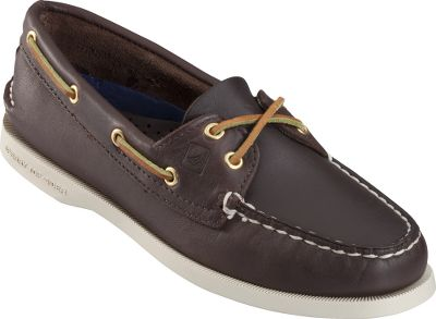 Entertainment Equip yourself with the breathable comfort and onboard appeal of Sperry boat shoes featuring the Secure 360deg; Lacing Systemtrade; with rustproof eyelets and nonmarking rubber outsoles with Wave-Sipingtrade; for wet and dry traction. Genuine hand-sewn moccasins with Full Active Comfort System for a personal fit. Full-grain leather uppers. Rustproof eyelets with functional rawhide laces. Shock-absorbing heel cups. Razor-siped EVA outsoles for cushioning and support. Imported. Type: Boat Shoes. Size: 7 1/2. Shoe Width: MEDIUM. Color: Navy. Size 7 1/2. Width Medium. Color Navy. - $59.88