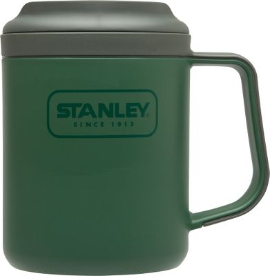 Camp and Hike The Stanley Adventure 16-oz. eCycle Camp Mug is made of recycled and recyclable plastic. Double-wall insulation keeps beverages hot for hours. Leakproof, drink-through lid makes it easy to travel with a hot beverage. BPA-free. Dishwasher safe. Lifetime warranty.Weight: .46 lbs.Dimensions: 5.7L x 3.7W x 4.9H.Color: Green. Color: Green. Type: Beverage Holders. - $8.88