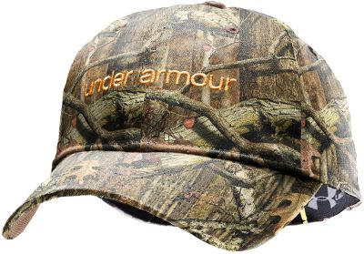 Fitness High-performance headwear with a moisture-wicking Under Armour HeatGear sweatband and a quick-drying, 100% polyester shell. Adjustable back closure. One size fits most. Imported. Camo patterns: Realtree AP , Mossy Oak Break-Up Infinity . - $23.99
