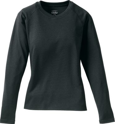 Keep your youngster comfortably warm in moderately cold temperatures. This crew-neck tops midweight, bi-layer 100% polyester is pleasingly soft and wicks perspiration away from the skin. Machine washable. Imported.Sizes: XS-XL.Color: Black. Size: SMALL. Color: Black. Gender: Female. Age Group: Kids. Material: Polyester. Type: Base Layer Tops. - $12.88