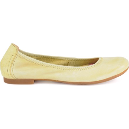 With a feminine, ballet slipper-inspired fit and amazing comfort, the Born Julianne flat shoes will be your go-to choice for casual outings. Mango uppers features rich full-grain leather for lasting comfort and a refined, timeless look; black uppers features burnished leather for a classic, refined look. Handsewn Opanka construction offers the flexibility and comfort of moccasins. Smooth suede leather linings facilitate easy entry and offer excellent next-to-skin comfort. Rubber midsoles deliver long-lasting cushioning for all-day wear. Born Julianne flat shoes have lightweight rubber outsoles to ensure secure footing throughout the day. - $43.83