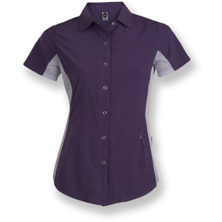 Fitness The Club Ride Bandara women's bike jersey is a performance top that works equally well flying down singletrack or cruising up the street to the taco truck. - $44.83