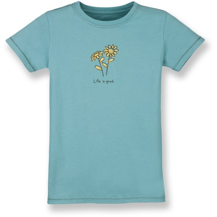 Entertainment The Life is good(R) Organic T-shirt stays ahead of the pack with soft, natural texture her skin will love. Made from organic cotton for breathable comfort and easy care. Closeout. - $9.73