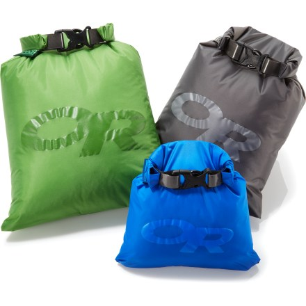 Kayak and Canoe Head out on the soggy trail or paddle around lush islands knowing that your gear is safely stowed in the Outdoor Research Dry Ditty sacks. - $31.00