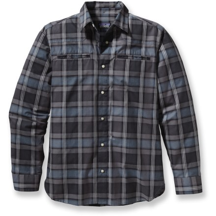 Pairing soft organic cotton with low-key Western style, the Patagonia Wagner shirt looks equally at home in the office or the great outdoors. Made from certified 100% organic cotton for breathable comfort and easy care. The Patagonia Wagner shirt nods to your inner cowboy with pearlized snap buttons, a curved front yoke and 2 welted chest pockets. Closeout. - $54.93
