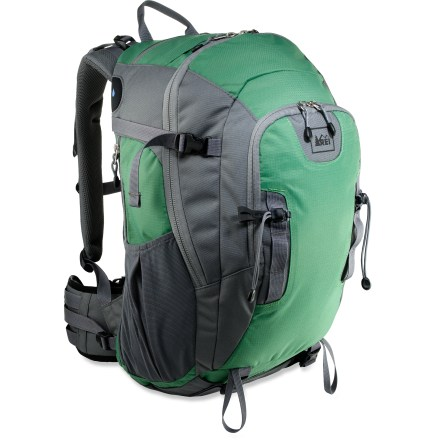Camp and Hike The REI Lookout 40 daypack keeps a full day's worth of gear organized and ready to go as you cover miles of trail. - $65.73