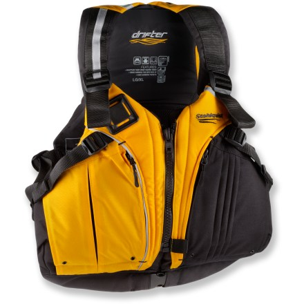 Kayak and Canoe The Stohlquist DRIFTer PFD helps you make the most of your time on the water thanks to its comfortable fit. - $129.95