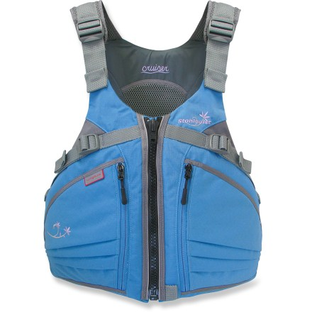 Kayak and Canoe A half mesh back, short torso and supportive cups provide women wearing the Stohlquist Cruiser an extra measure of comfort while kayaking or canoeing. - $119.95