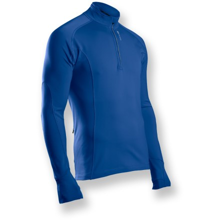 Fitness The Sugoi MidZero zip top is engineered to keep you warm and dry during high-energy, cold-weather workouts so you can stay outside even when the temperature drops. MidZero fabric is a full-stretch, moisture-wicking, midweight base layer that's fleeced on the inside for amazing comfort. 10 in. front zipper allows quick ventilation; zipper guard prevents chin abrasion. Flatlock seams ensure chafe-free comfort. Hidden back zippered pocket stashes small items. Pro fit design of the Sugoi MidZero zip top hugs your body, reducing wind drag. Closeout. - $35.73