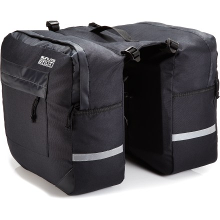 Fitness Tough, durable and weather-protective, the Sunlite Utili-T 1 panniers keep your gear safe and dry so you can ride comfortably through light rain and other unexpected weather. - $35.73