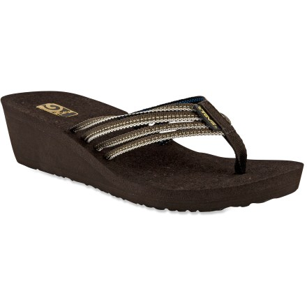 Surf The Teva Mush Adapto Wedge sandals are essential footwear for warm-weather fun and frolicking. - $6.83