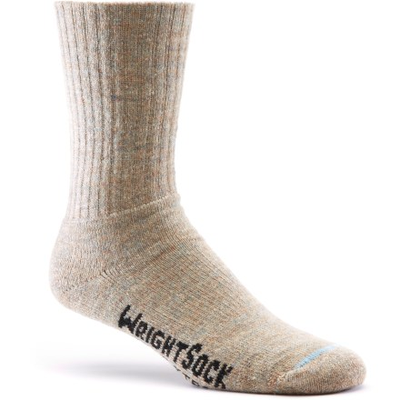 Camp and Hike Perfect for 3 seasons of backpacking, the Wrightsock Double-Layer Hiking Xtra crew socks feature a double-layer construction that helps keep feet comfortable. Interaction between inner and outer layers absorbs friction to prevent blisters. Inner layer of moisture-wicking CoolMax(R): polyester and outer layer of Solara(TM) acrylic and nylon provide a barrier from heat or cold. Inner layer is smooth and left undyed to provide a moisture-dispersing surface against the foot. Closeout. - $7.73