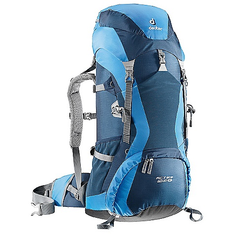 Free Shipping. Deuter Women's ACT Lite 60 + 10 SL Pack DECENT FEATURES of the Deuter Women's ACT Lite 60 + 10 SL Pack Anatomically Shaped shoulder straps: with 3D-AirMesh cover Anatomically Shaped X-Frame: creates a comfortable, flexible construction for medium to heavy loads, 1/2in. stays 40-50 liter; 1in. stays 60-65 liter Variquick: customize your fit by making your individual height adjustment Breathable Hollow Chamber Foam: blends superior ventilation via a pump effect that circulates air through the cushions The result is a snug fitting, stable carry and a reduction of perspiration by 15% Anatomically Cut Hip Belt: with bilaminate foam provides great load transfer and offers freedom of movement Alternative Varquick Shoulder Harnesses: available to customize fit Aircontact Back System Variquick Adjustable Shoulder Harness Bottom Compartment Access with Internal Zip Divider Large Front Stretch Stuff-it Pocket Hollow-core Aluminum X-Frame Ice Axe and Trekking Pole Attachments Hydration Compatible liter Extension Top and Bottom Lid Pockets Stretch-woven Side Pockets Hip Belt Pocket Height Adjustable Lid SOS Label Pull Forward Hip Belt Straps The SPECS Carry Capacity: 50 lbs / 23 kg Torso Length: Adjustable: 14 - 20in. / 36 - 50 cm Volume: 3660 cubic inches / 60 liter (+10 liter Extension Collar) Weight: 3 lbs 14 oz / 1.68 kg Dimension: (H x W x D): 31 x 14 x 12in. / 78 x 36 x 30 cm Material: Ripstop 210 / Duratex Lite Aluminium Stays: 1in. X-Frame - $199.00