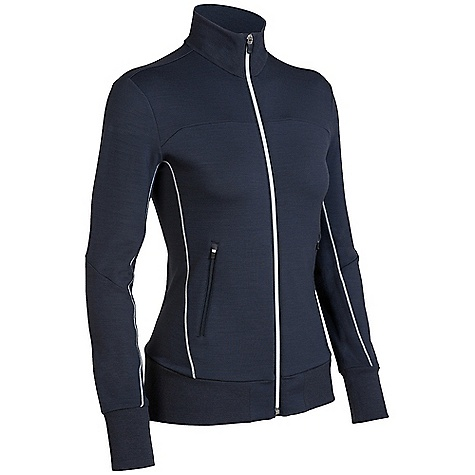 Free Shipping. Icebreaker Women's Swift Jacket DECENT FEATURES of the Icebreaker Women's Swift Jacket GT 260 terry Rib collar, cuffs and hem band Full zip centre front Set-in sleeves Zipped front hand pockets Zipped back stash pocket Icebreaker logo and GT word mark - $169.95