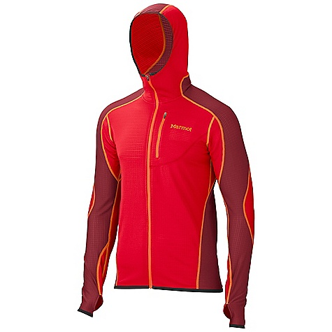 Free Shipping. Marmot Men's Thermo Hoody DECENT FEATURES of the Marmot Men's Thermo Hoody Polartec High Efficiency Fleece Attached Hood Flat Lock Construction Zippered Chest Pocket Elastic Bond Cuffs with Integrated Thumb Holes The SPECS Weight: 1 lb / 453.6 g Center Back Length: 27.75in. Fit: Athletic Polartec Power Dry 92% Polyester 8% Elastane Stretch 3.9 oz/yd - $134.95