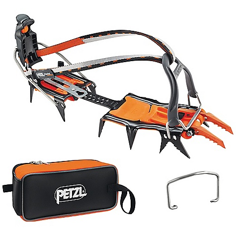Climbing Free Shipping. Petzl Lynx LL Crampon DECENT FEATURES of the Petzl Lynx LL Crampon Versatile crampons for ice and mixed climbing Configuration and length of front points can be modified with one screw Dual points in short, long or asymmetrical position Offset mono-point in short or long position Crampons adaptable to boots with or without toe welts Interchangeable front bindings: Stainless steel toe bail wires for shoes with toe welts, or flexible bindings for boots without toe welts Toe bindings can be adjusted to accommodate shoe width and provide sufficient point length Leverlock heel bail is height-adjustable, designed for boots with heel welt Integrated front and rear Antisnow plates FAKIR carrying pouch included Marked bars facilitate crampon adjustment Come with FAKIR carrying bag (V01) Front and rear Antisnow (T24960) Flexible front binding Stainless steel wire heel bail The SPECS Number of Points: 14 Certification(s): CE, UIAA Boot sizes: 35 to 45 with M linking bar (included), optional L linking bar fits boots sizes 40 to 50 (T20850) Weight: 2 x 540 g = 1080 g (configuration with two points and Antisnow), 2 x 455 g = 910 g (configuration with one point, no Antisnow) ALL CLIMBING SALES ARE FINAL. - $245.00