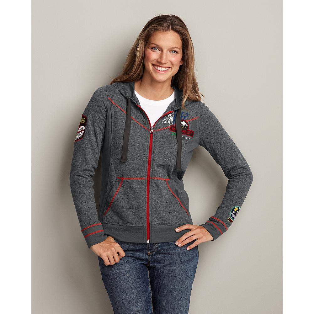 Ski Eddie Bauer Squaw Valley Double Cloth Hoodie - Vintage-looking details inspired by Squaw Valley ski resort, site of the 1960 Olympics, refresh our traditional hoodie. - $29.99