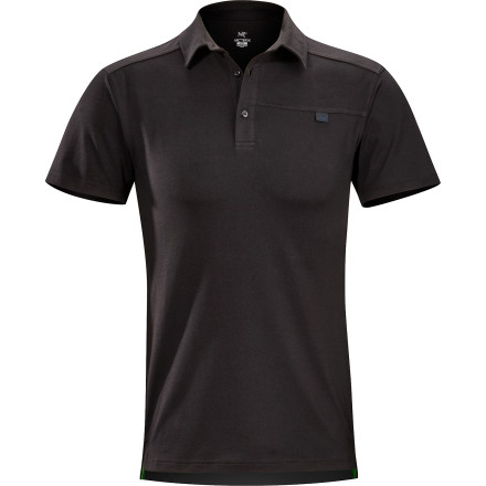 Camp and Hike Be ready to break away from a grueling lunch at the in-laws' with the slim-fitting Arc'teryx Captive Short-Sleeve Polo. This three-button polo has a classy look for those mandatory ham and macaroni meals, but its DryTech fabric wicks sweat, breathes well, blocks UV-rays, and dries quickly so you can abruptly excuse yourself and get on the nearby trail for an afternoon stroll. Its gusseted underarms and a stretchy feel make the Captive ideal top if your trail happens to lead to a sunny crag. - $68.95