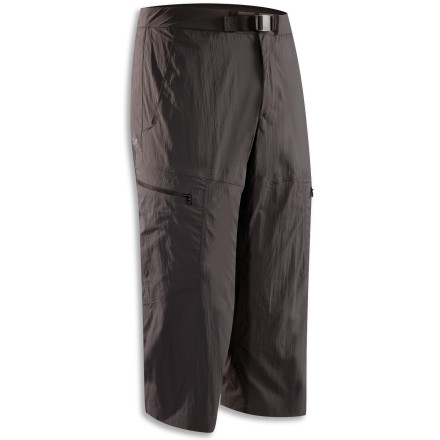 Camp and Hike Achieve vertical nirvana in the Arc'teryx Palisade Cropper Pant. This climbing-oriented design features breathable and quick-drying TerraTex fabric that stands up to the wildest of your backwoods adventures, and a soft, chamois-lined waist feels comfortable even under a harness. Intuitively placed pockets store snacks for an energy boost on the approach, or a map for more tricky crags. - $124.95
