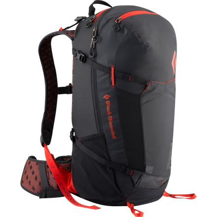Climbing Pick an adventure, any adventure, and pack up your trusty, do-it-all Black Diamond Sonar Backpack and go. With plenty of space for all your wants and needs for a crazy day of fun and easy access to it all via a large zippered panel, this pack will make it a breeze for you. And the reActive suspension featuring a highly ventilated backpanel, shoulder straps, and the flexible hip-belt keeps everything secure and stable for enduring comfort. Whether it be a slot canyon, high peak, or limestone cave, you'll have what you need and have energy to spare. - $139.95