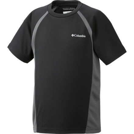 Active boys can be smelly boys, but the lightweight, breathable Columbia Boys' Silver Ridge II Tech Shirt features OmniWick to keep your sweaty youth cool and dry and an antimicrobial treatment to ward off stench. And when the sky is bluebird and the sun is high, the UPF 30 rating lets him play with protection. - $14.96