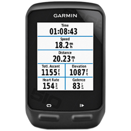 MTB While we thought that the leap from the Garmin 800 to 810 was massive, it pales in comparison to the advancement from the Edge 500 to the Edge 510 Bike Computer. Garmin has done away with the 500's button mashing, instead opting for a sophisticated touch screen interface. And while Edge 510 isn't quite at the same level of functionality as the new 810, for the price, we can't imagine a more powerful training computer. Starting at the screen, Garmin placed a focus on simplifying screen and metrics navigation. The initial start screen prompts you to select the CPU's functionality for your ride, either 'train' or 'race.' To avoid confusion, training mode is presented in Blue, whereas race mode is presented in Red. Additionally, this screen enables you to select the bike profile that you'll be riding -- mountain, road, cyclocross, or even unicycle if you're savvy. Once these selections have been made, you simply touch the ride button, and the screen moves to your race or training page. And of course, this page is customizable for every bike profile in your quiver. So, your ride page will only reflect the data that you deem pertinent to your ride or race. Even more impressive, and a jump away from the button navigation fumbling of the 500, the 510 allows you to simply swipe the touch-screen from page to page. Also, Garmin designed the screen to operate seamlessly with gloved hands in the cold, in the heat, or even in wet weather. And as long as we're on the subject of new features, you'll should be ecstatic to hear that the 510 is Bluetooth ready. So, while sport device communication is still handled by ANT+ (say, wireless data transfer from HRMs or powermeters), the Bluetooth technology communicates with your smartphone. And to make matters even easier, the 510 is fluent in either Android or iOS operating systems. So, once you're synced up with your phone, and you've downloaded the Garmin Connect Mobile App, the 510 really comes alive. - $329.95