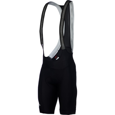 Fitness If you ask Giordana what 2013 means, you'll most likely hear 'fabrics' belted right back at you. Giordana isn't kidding. We've already seen the venerable FormaRed Carbon series touting a veritable laundry list of materials, and now, the same has been done to the Laser Compression Bib Shorts. New for this year, Giordana has placed a focus on its compressive efforts, and while it was at it, the formerly FormaRed-exclusive carbon has also been incorporated. Now, with more similarities than differences, the Laser is reconsidering playing second-fiddle to its older brother. Giordana uses its patented Moovix fabric for the much of the Laser's shorts construction. This material has an engineered omni-directional elasticity, which promotes complete freedom of movement. Don't worry, we understand that this is a rarity for compressive pieces. However, the moderate denier of Moovix naturally promotes a positive blood circulation to the heart, meaning that the more blood you can move to your muscles, the better your output and recovery will be. And while Giordana stakes the claim that Moovix will increase muscle output by 12%, we find that its most vital characteristics involve the inhibiting of muscle of oscillation from road vibration -- a common component to early onset fatigue. Moving to the inner legs and seat panel, Giordana placed an even stronger fabric called Zaffiro. This material is a certified Power Lycra with a composition weight of 200g/m2. But, unlike Moovix, Zaffiro features a purposefully denser weave with Giordana's SUPER 40 construction technology. This guarantees a continuation of Moovix's aforementioned characteristics, only with a higher level of durability and friction-reduction at the highest points of saddle abrasion. Around the area of the core, the Laser utilizes Kite mesh panels in order to effectively regulate your core temperature. Additionally, Giordana placed its new Ametista fabric around the waist as part of its Core Contour System. - $194.95