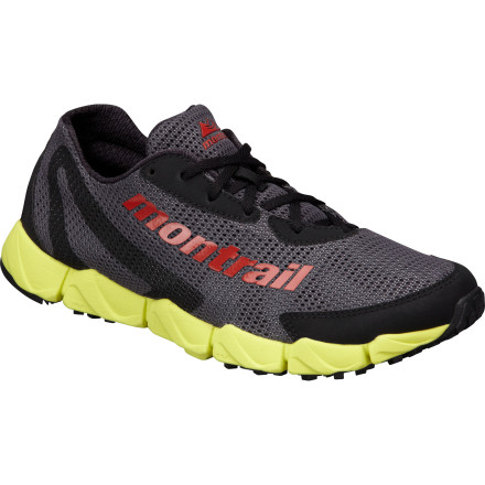 Fitness As you might guess from the name of the Montrail Men's FluidFlex Trail Running Shoe, supreme flexibility is its calling card. The articulated flex grooves in the sole allow total foot mobility, while a low drop enables a natural forefoot-strike stride. You'll get plenty of cushioning from the FluidFoam in the midsole, too, which even after three months of wear offers 7% more impact absorption than standard EVA, eliminating the need for gel pods or air cushions or other such gimmicks. A hybrid that you can wear out the door to the trailhead, the FluidFlex is ready to go with the flow. - $80.96