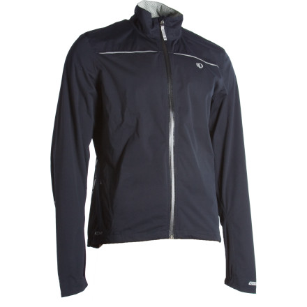 Fitness The Pearl Izumi Select Barrier WxB Jacket will keep you warm, dry, and comfortable, even when the weather's headed towards unbearably bad. The Select Barrier features a polyurethane/polyester blend that provides a good balance of breathability with water impermeability. Two hand pockets and a single rear pocket offer plenty of storage options, and a detachable hood makes the Barrier ideal for commuting and touring as well. - $164.95